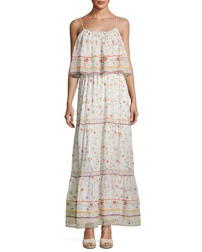 6e28802c352 JOIE Vernita Floral-Print Popover Maxi Dress