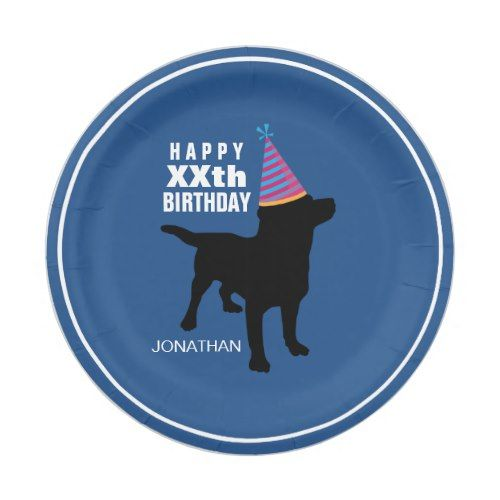 Funny Black Lab Dog Custom Birthday Paper Plate  sc 1 st  Pinterest & Funny Black Lab Dog Custom Birthday Paper Plate | Black labs dogs