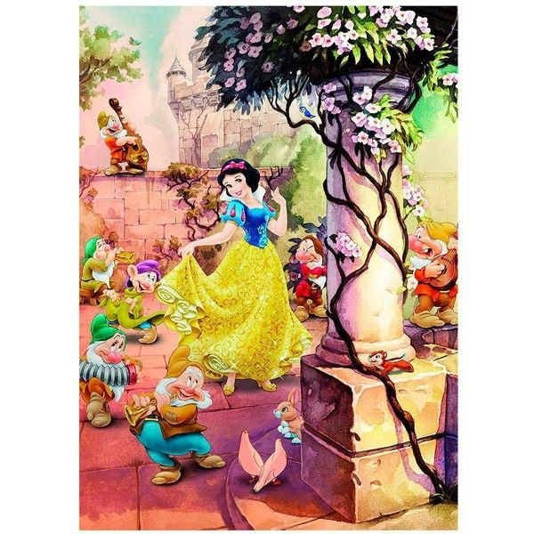 Disney Princess Snow White Wall Mural (495 DKK) ❤ liked on Polyvore ...