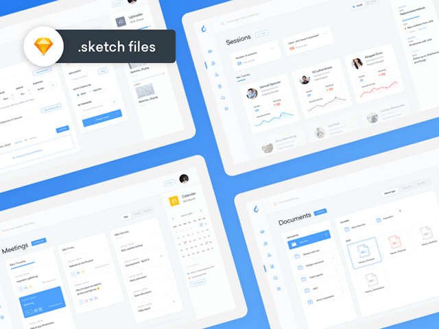 ooto is a free set of 4 dashboard templates for sketch designed by adrian madacs