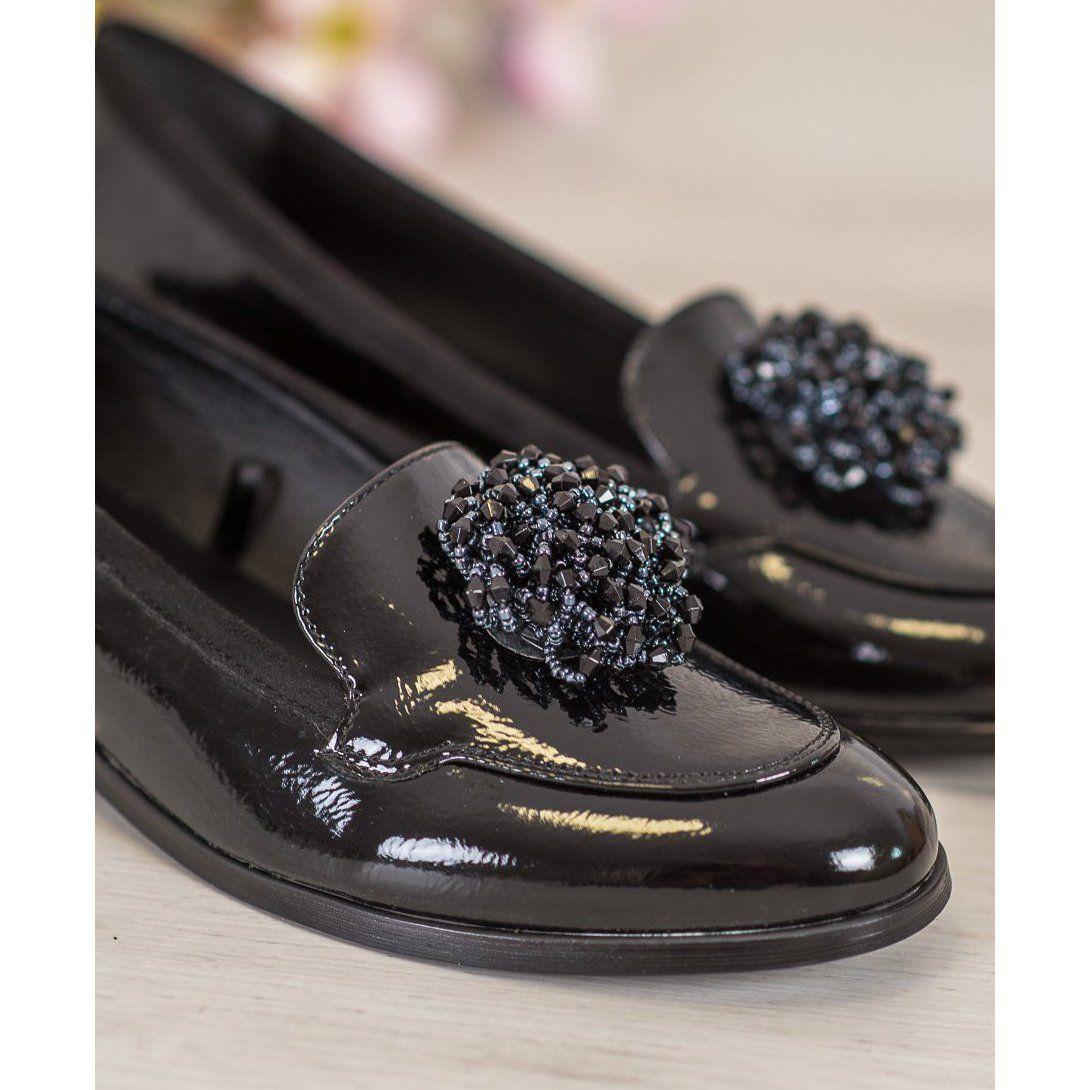 Vinceza Czarne Lordsy Z Ozdoba Gucci Mules Mule Shoe Shoes