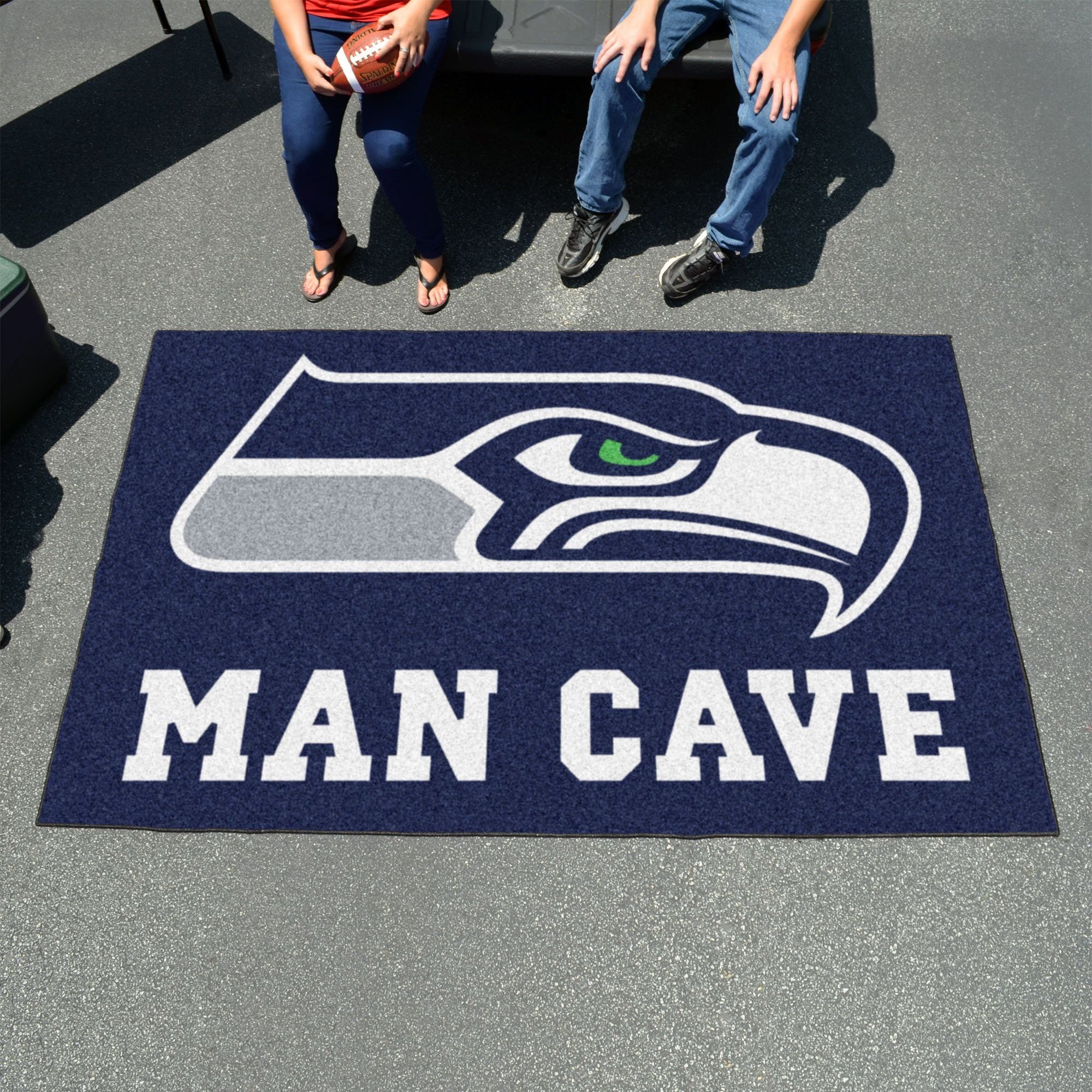 NFL - Seattle Seahawks Man Cave UltiMat 5\'x8\' Rug