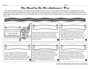 Worksheets Revolutionary War Worksheets worksheet causes of the american revolution history class revolution