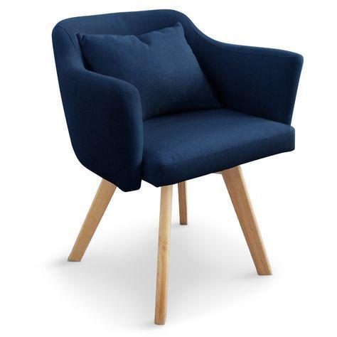 chaise fauteuil scandinave dantes tissu bleu 69 diner table pinterest diner table - Fauteuil De Table Scandinave