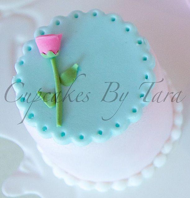 Aqua Rose Mini Cake