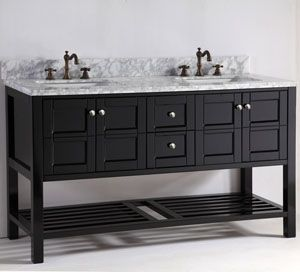 60 Leo Double Sink Vanity Black Espresso With Images