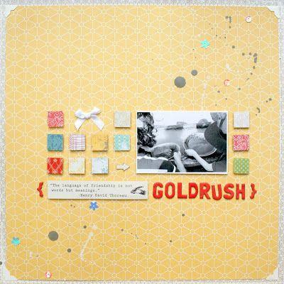 goldrush - remembering a lovely summer day I scrapbooking layout I mojosanti I Sandra Dietrich I #papercraft #scrapbook #layout