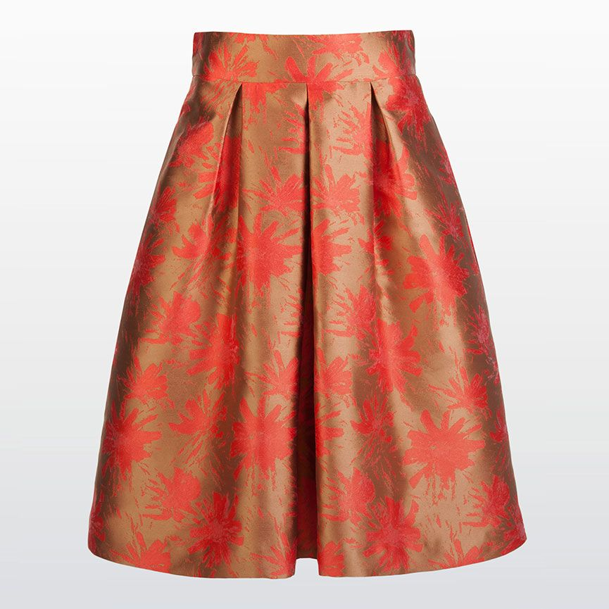 5075d32126c8b4 Limited - Wide jacquard pleated skirt  Xandres  XandresLimited  Festive   Party  CapsuleCollection