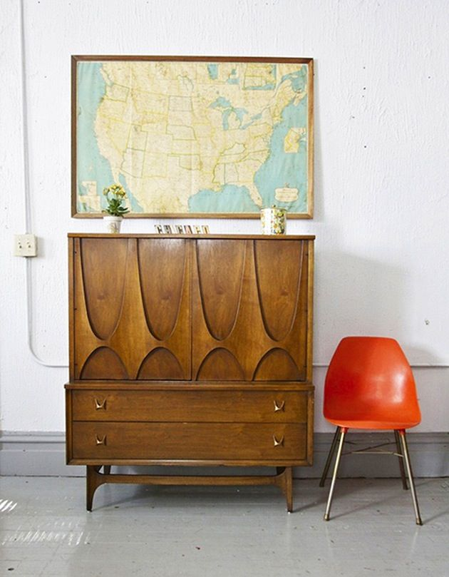 Dressers, Armoires, and Wardrobes, Oh My. Mid Century Hutch ... - Dressers, Armoires, And Wardrobes, Oh My Industri, Lemari Hias