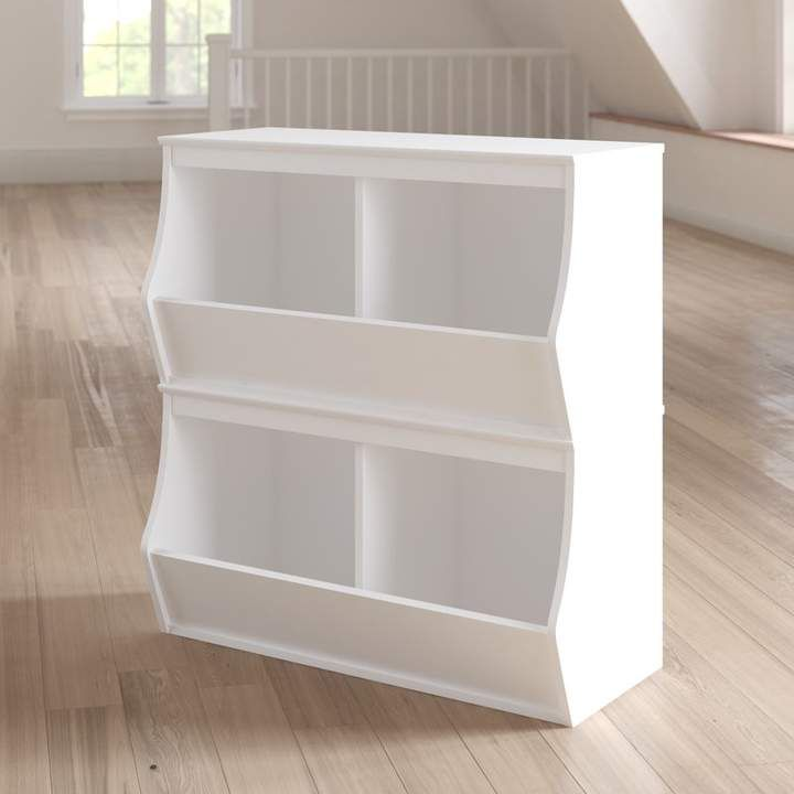 Viv Rae Leonor Stacked 4 Bin Storage Cubby With Images Cubby Storage Storage Bins Wooden Storage