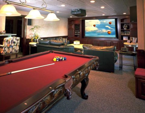 Classic Man Cave Game : Game room with classic bilyard table office wishlist