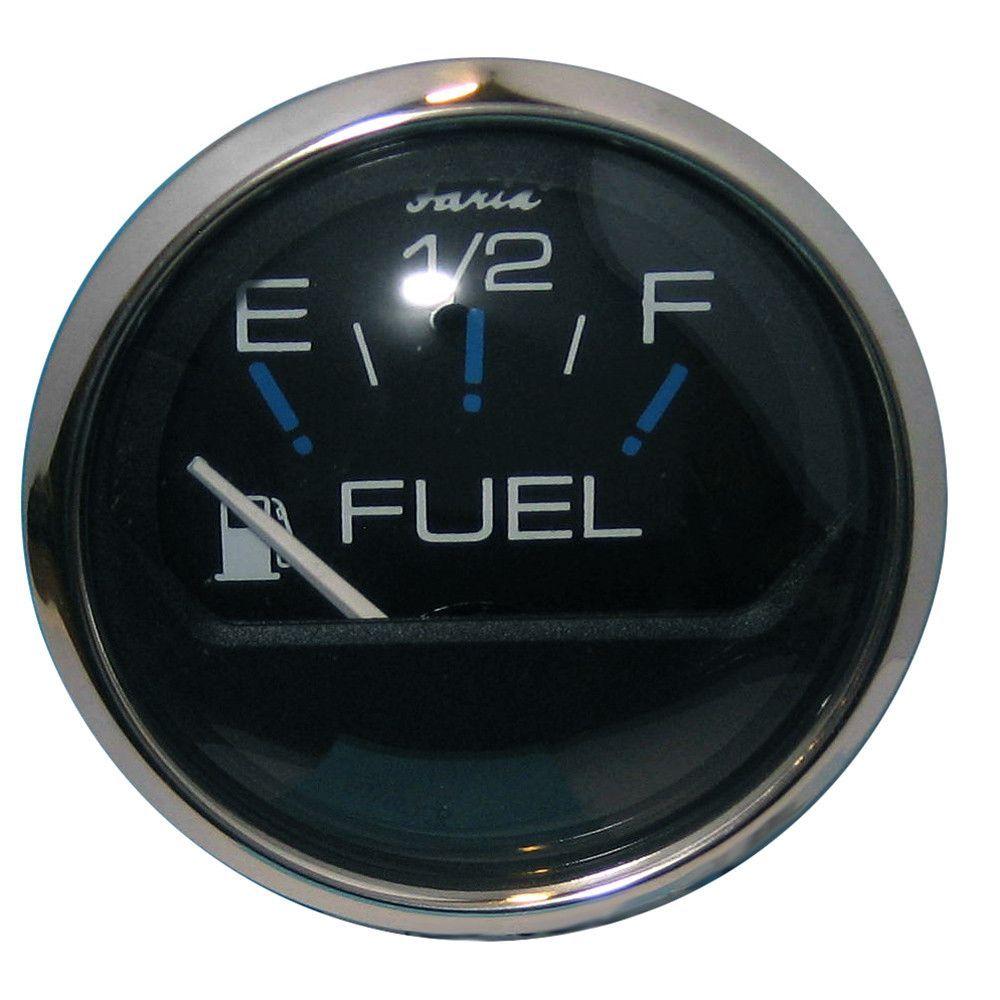 "Faria Chesapeake Black SS 2"" Fuel Level Gauge (E-1/2-F)"