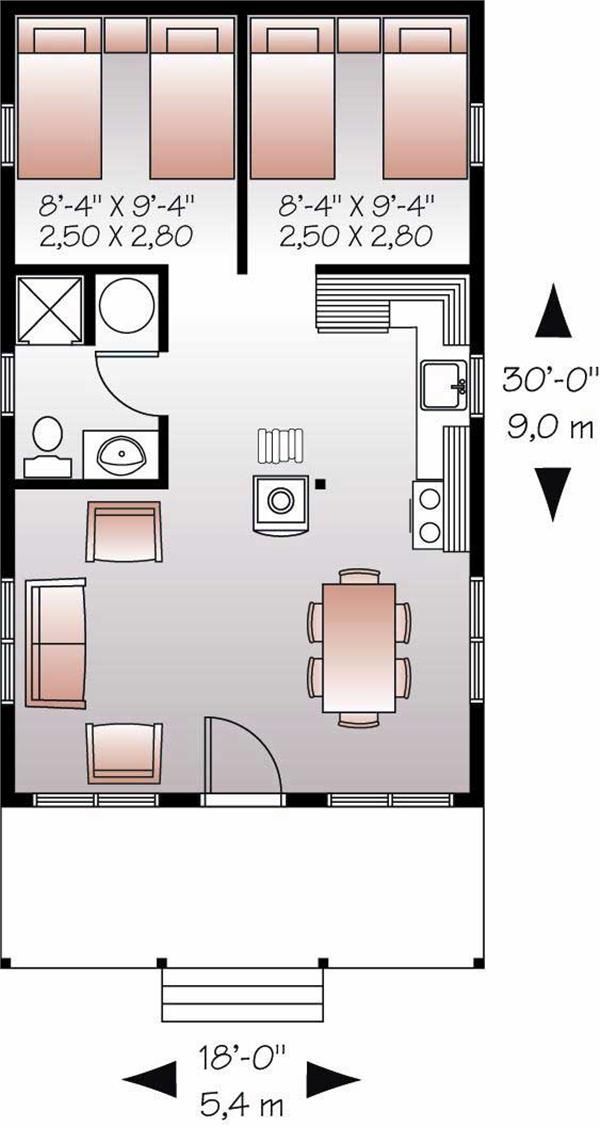 Small House Living Floor Plan First Story Move The Sink Next To Bath Add Washer Dryer
