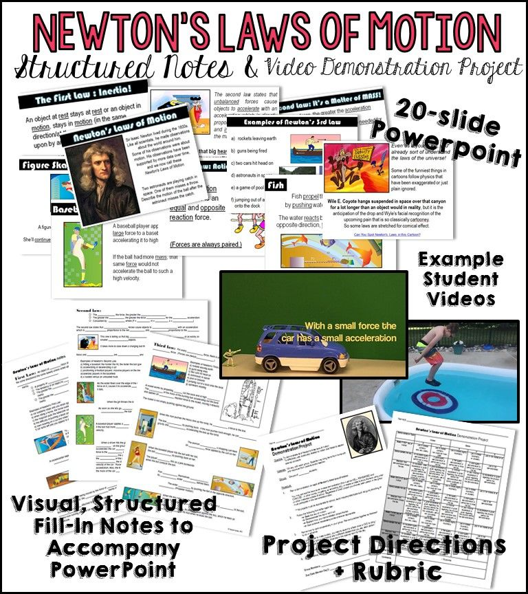 Newton's Laws of Motion Notes and Demonstration Project
