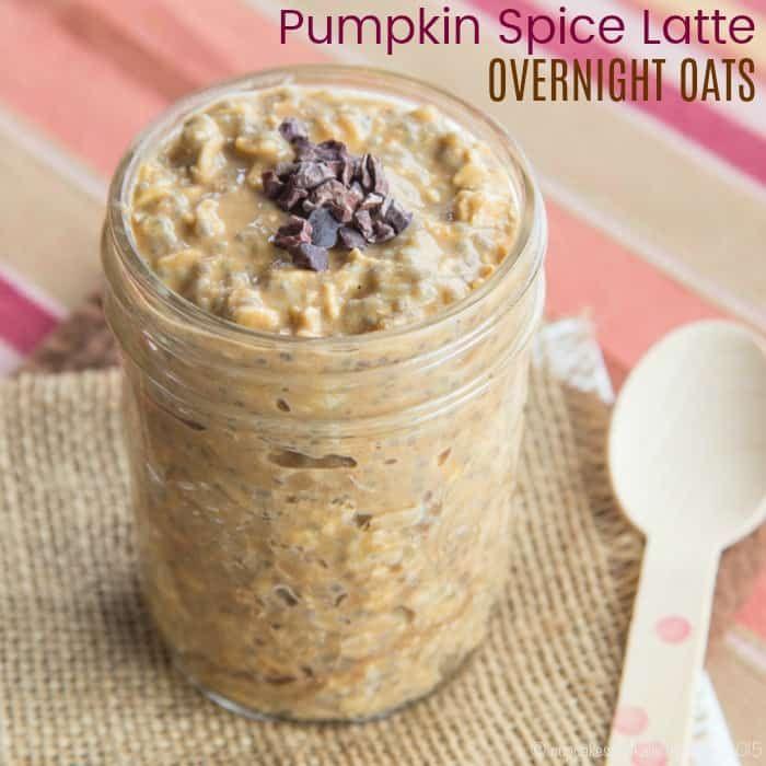 Pumpkin Spice Latte Overnight Oats Recipe