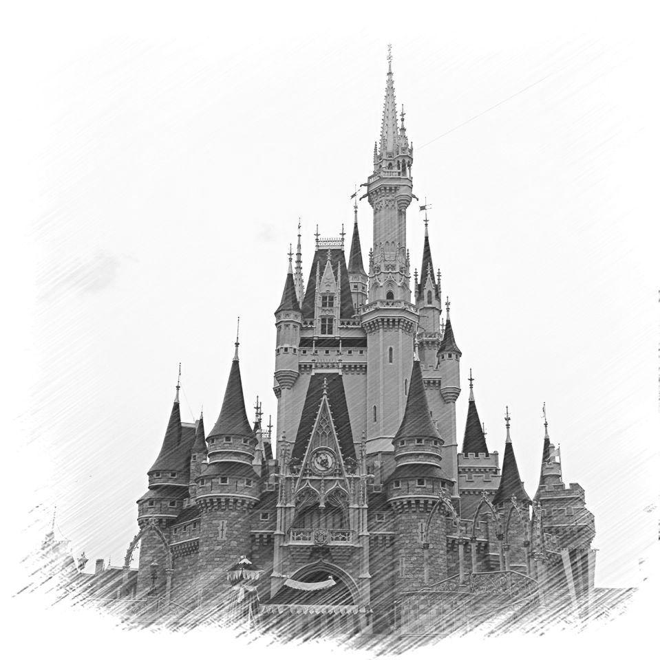 cinderella castle sketch cute disney castle sketch