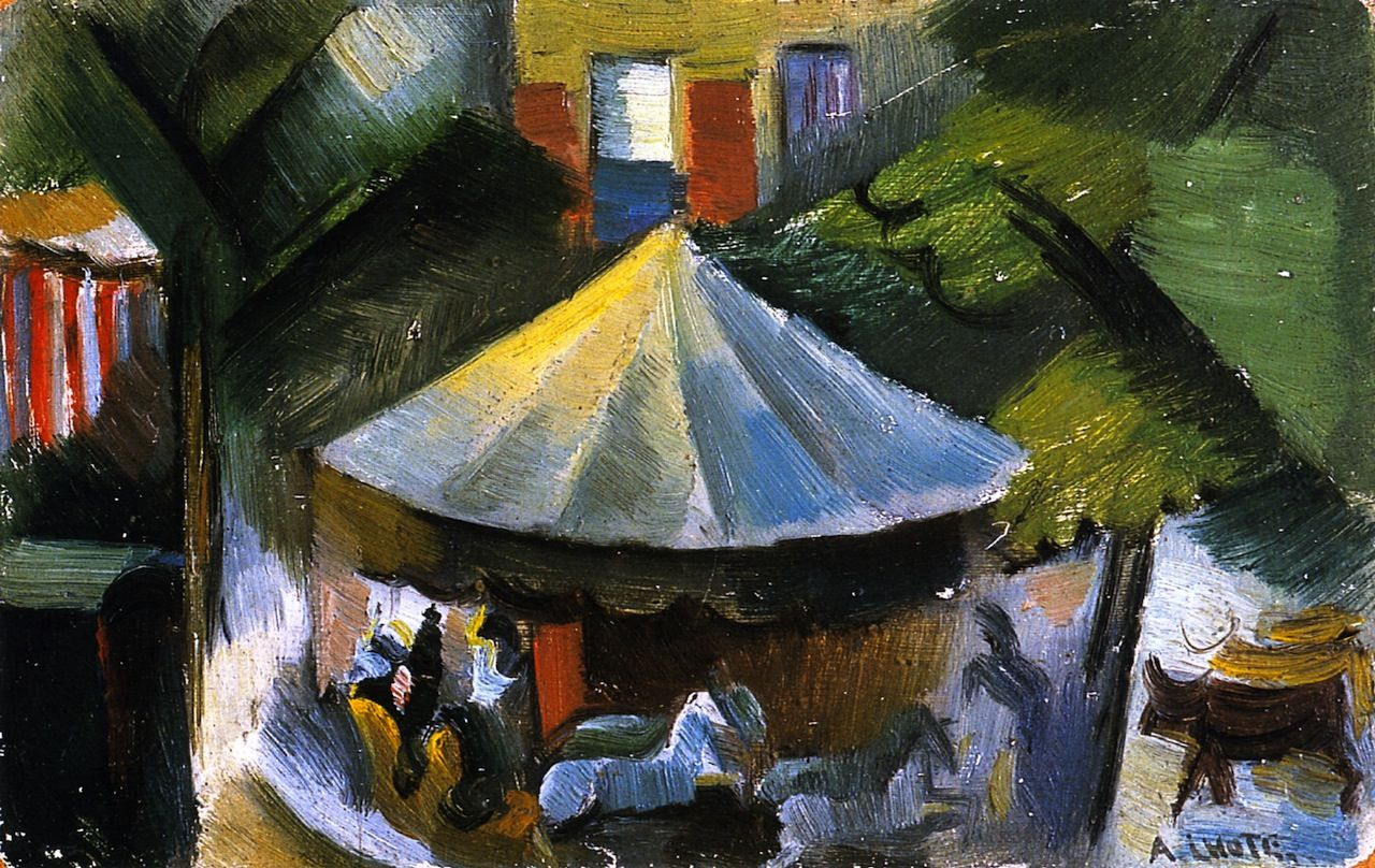 Pittura Astratta Picasso Andre Lhote - The Carousel, 1916, Oil On Canvas | Cubismo