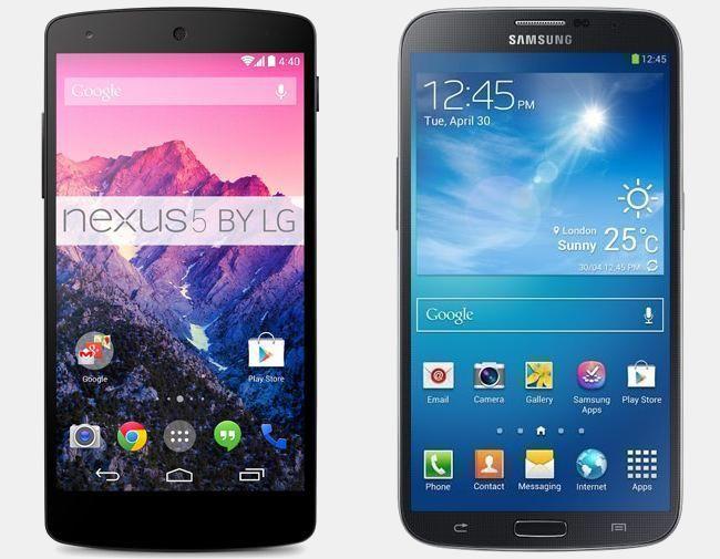 Vergelijking LG Nexus 5 16GB vs Samsung Galaxy Mega | Versus OS