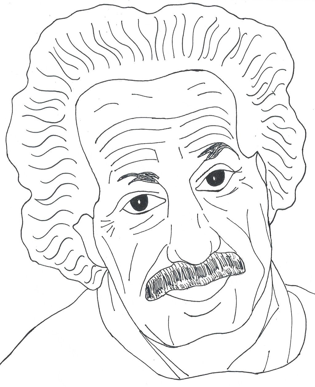Free printable albert einstein coloring pages kids coloring pages