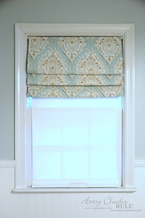 No Sew Faux Roman Shade Make In A Hour Faux Roman Shades Diy Window Shades Roman Shades