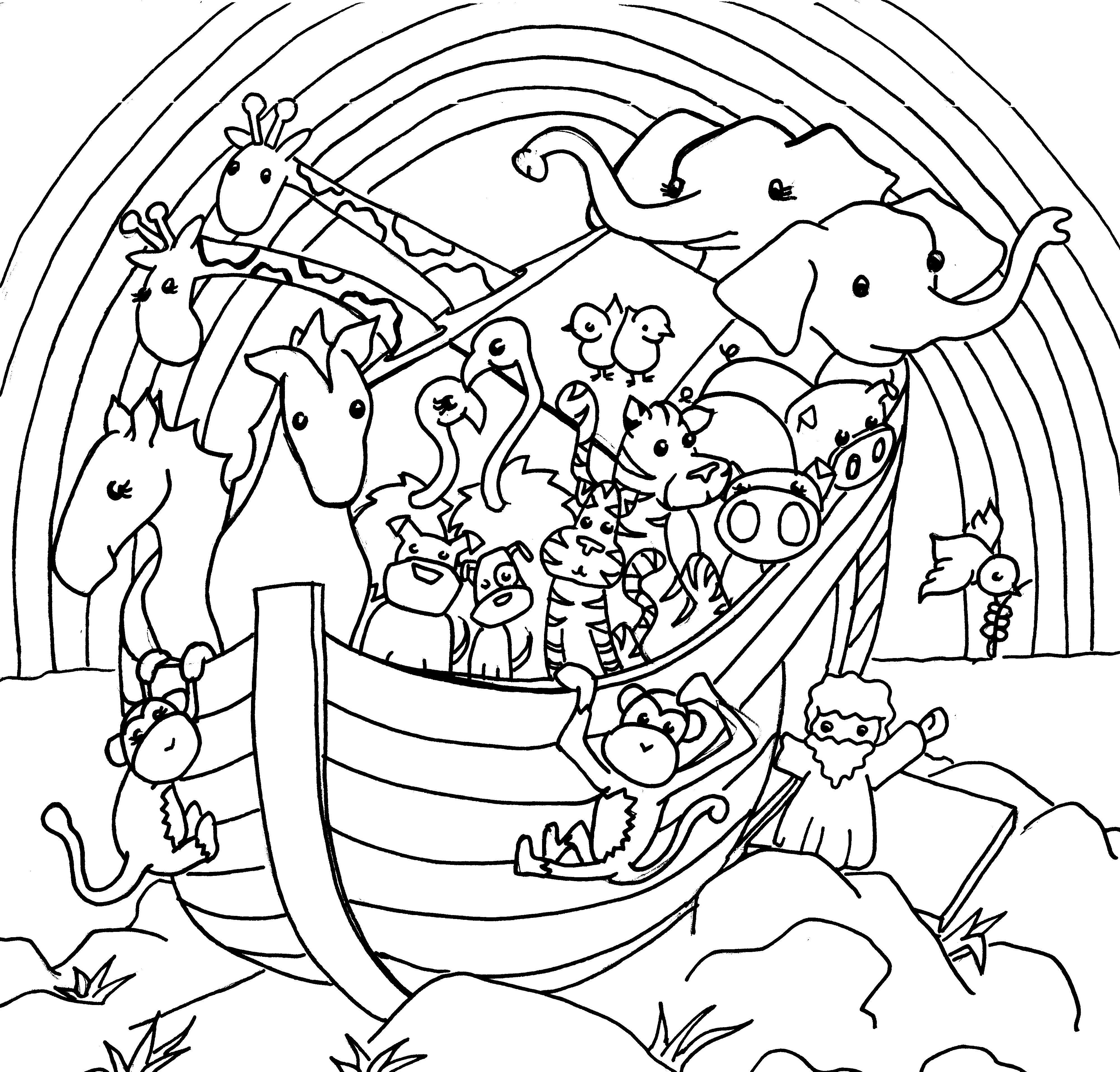 Раскраска ноев ковчег для малышей
