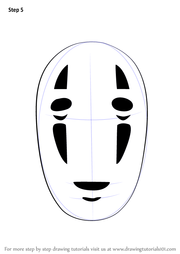 Step By Step How To Draw No Face From Spirited Away Drawingtutorials101 Com In 2020 Ghibli Tattoo Studio Ghibli Art Ghibli Art