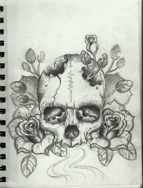 Rose Skull Tattoos Tumblr Skulls Drawing Skull Tattoo Design Skull Drawing