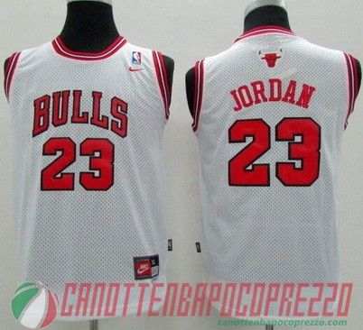 270b6973e90ba Canotte nba poco prezzo Bambino Chicago Bulls Jordan   23 bianco ...