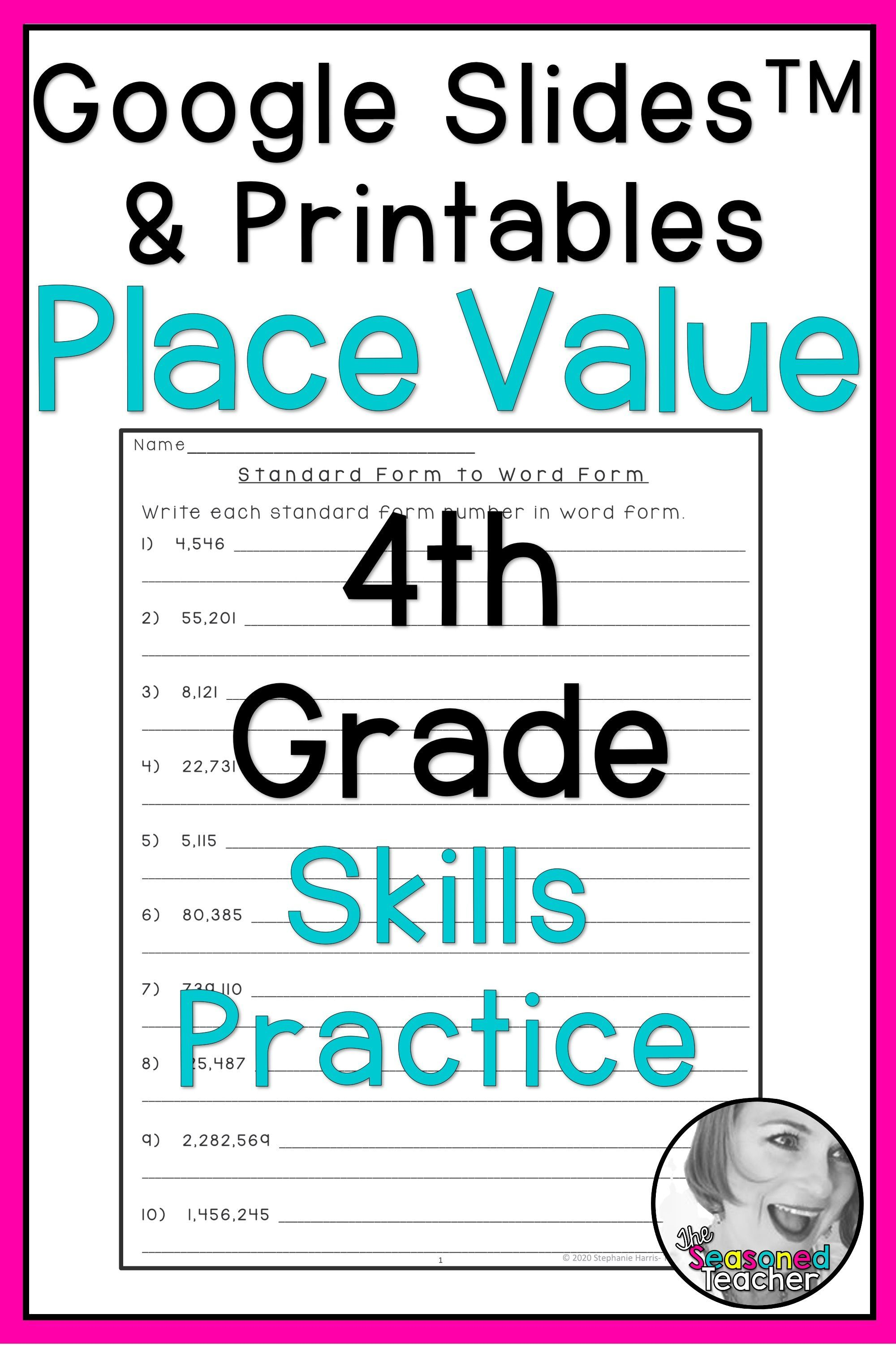4th Grade Place Value Worksheets In