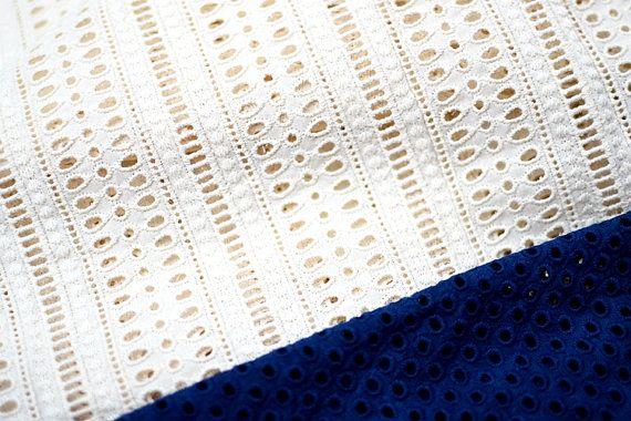1 meter 130cm 51.18 wide ivory cotton embroidery by ivyverynice