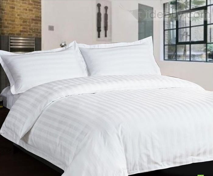 Solid 100 Cotton Sateen 4 Piece Full Queen King Size Duvet Cover 3cm White King Size Duvet Covers King Size Duvet Bed