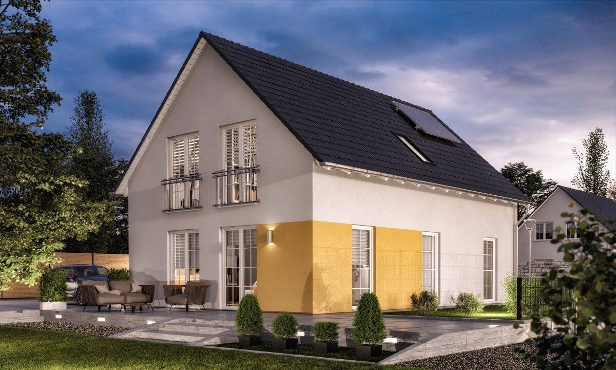 Eigenheim Neubau modern mit Satteldach Architektur