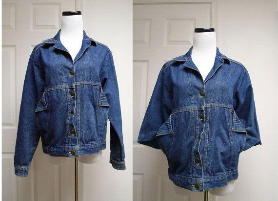 1990 vintage CHIC blue denim jacket  medium by june22 on Ets