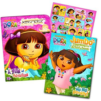 Dora The Explorer Coloring Book Super Set 2 Books With Stickers Dora And Friends Party Supplies Dora Coloring Dora And Friends Dora The Explorer