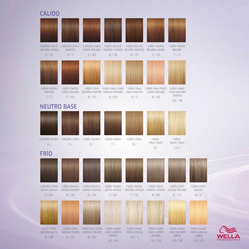 Illumina Carta Color 01 Wella Hair Color Chart Wella Hair Color Wella Illumina