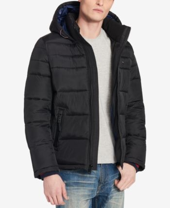 0a371b5b100 Tommy Hilfiger Men s Big   Tall Quilted Hooded Puffer Jacket ...