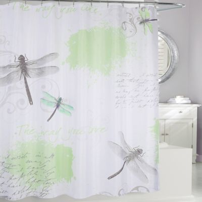 Dragonfly Fabric Shower Curtain With Images Fabric Shower