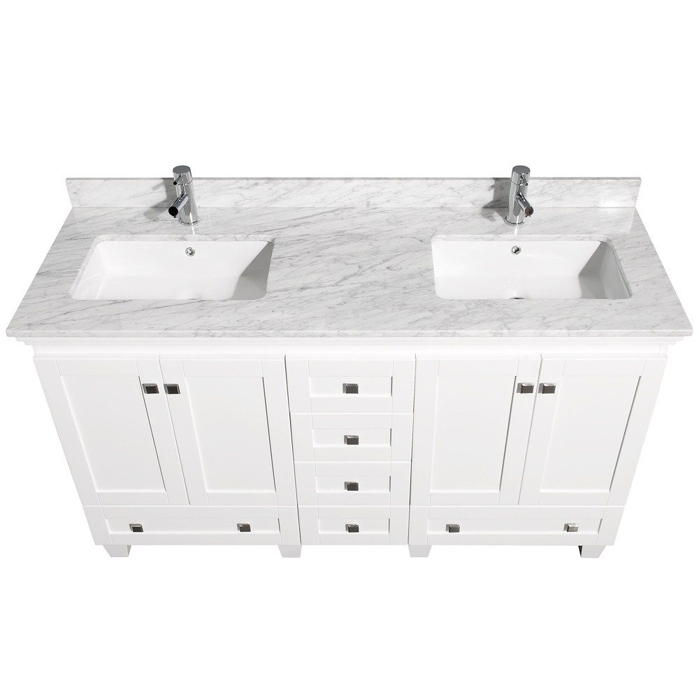 60 Inch White Bathroom Vanity.Pin By Housefurniture On Bathroom Furniture White Vanity