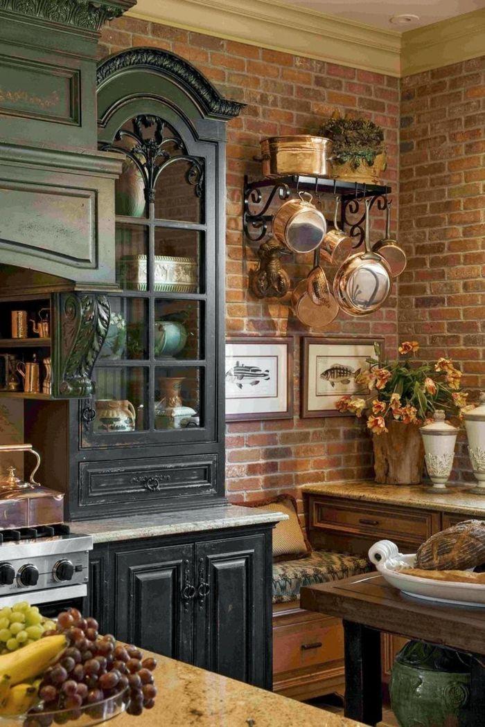 ▷ 1001 + designs et conseils pour la cuisine rustique parfaite - peinture bois et fer
