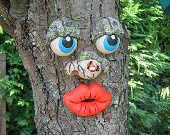 Tree Faces Garden Art