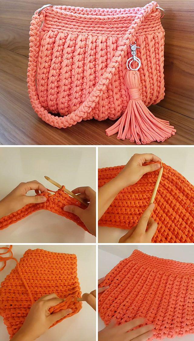 Elegant Crochet Handbag You Can Easy Make
