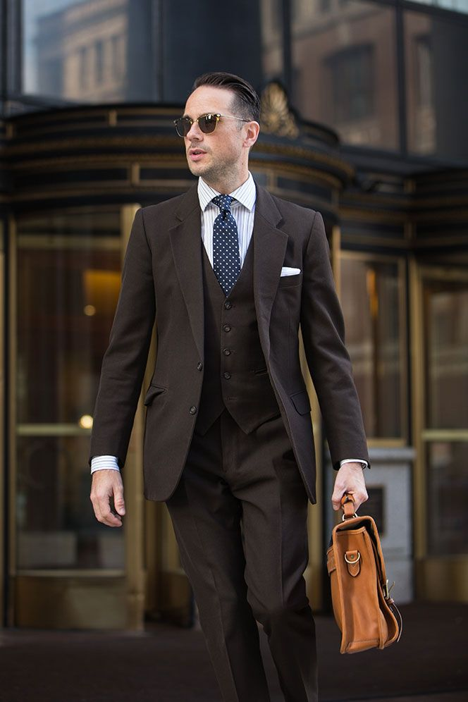 Mens Brown 3-Piece Suit - He Spoke Style | S T Y L E | Pinterest ...