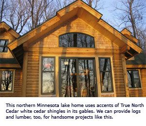 Log Home Gable End Ideas White Cedar Shingles Installed In End Gable Northern White Cedar White Cedar Cedar Shingles