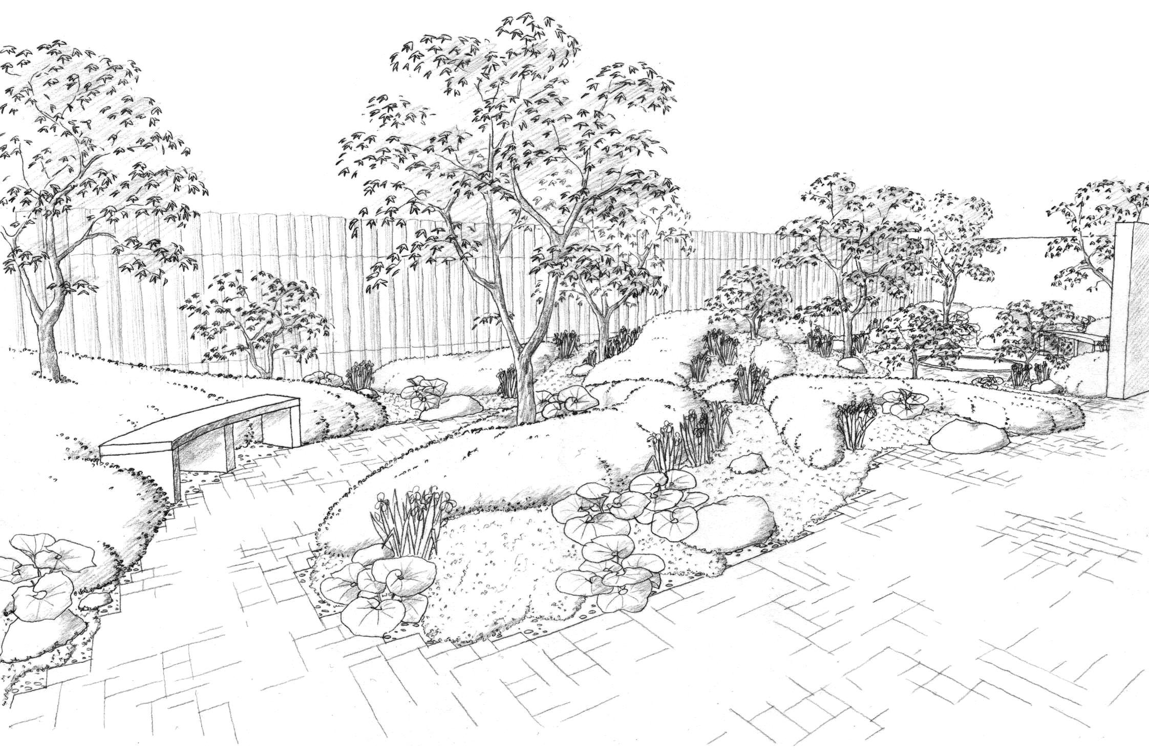 Landscape drawings Drawing Pinterest Landscape