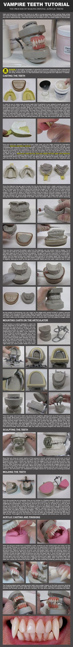 Vampire teeth tutorial by evancampbell on deviantart cool and