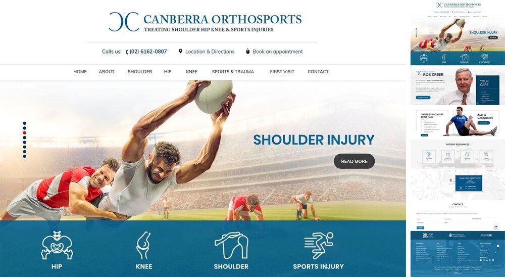 ACT Hip Knee Shoulder Surgeon Website Redesign Medical