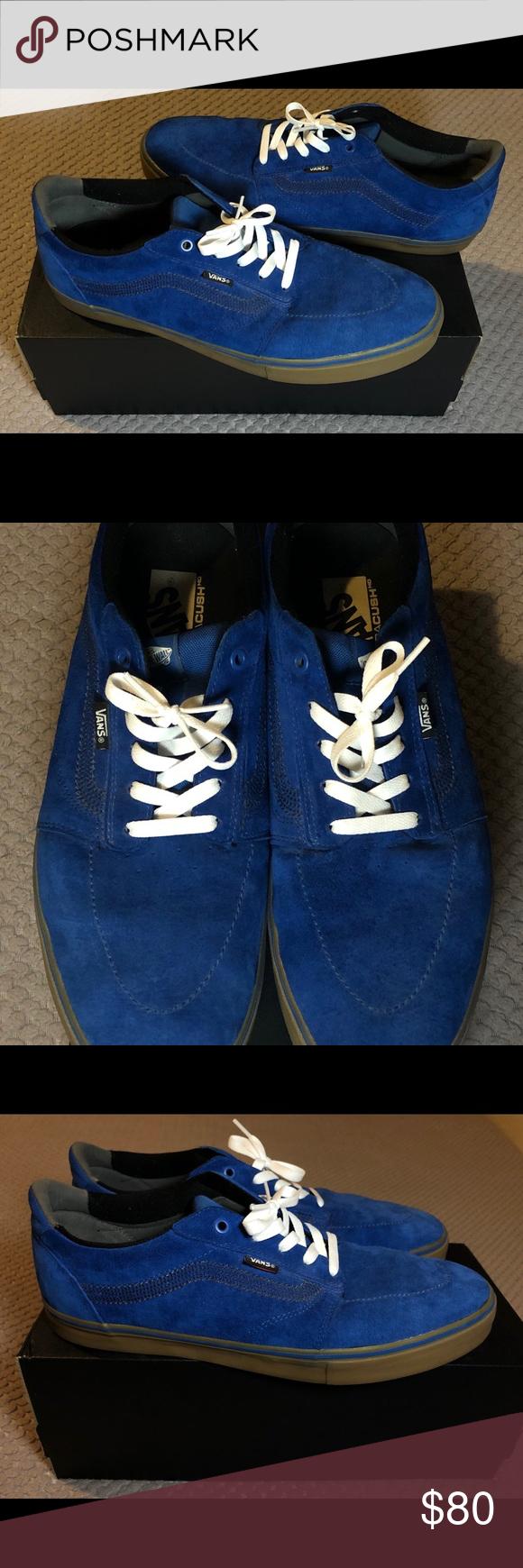 Old-Skool Vans Dark Blue Suede Gum Sole