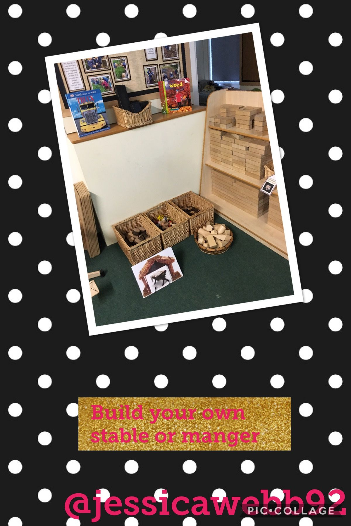 Make Your Own Manger Or Stable In The Construction Area
