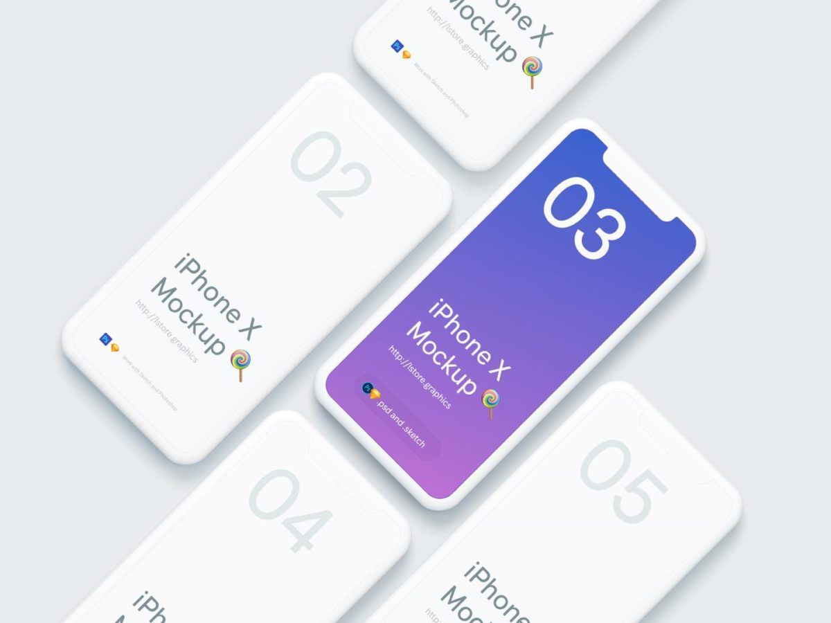 Iphone X Mockup Simple Clean Psd Sketch Iphone Mockup Iphone Mockup Free Phone Mockup
