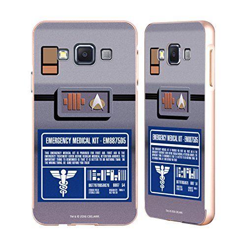Official Star Trek Medical Kit Gadgets TNG Gold Aluminum Bumper Slider Case For Samsung Galaxy A3
